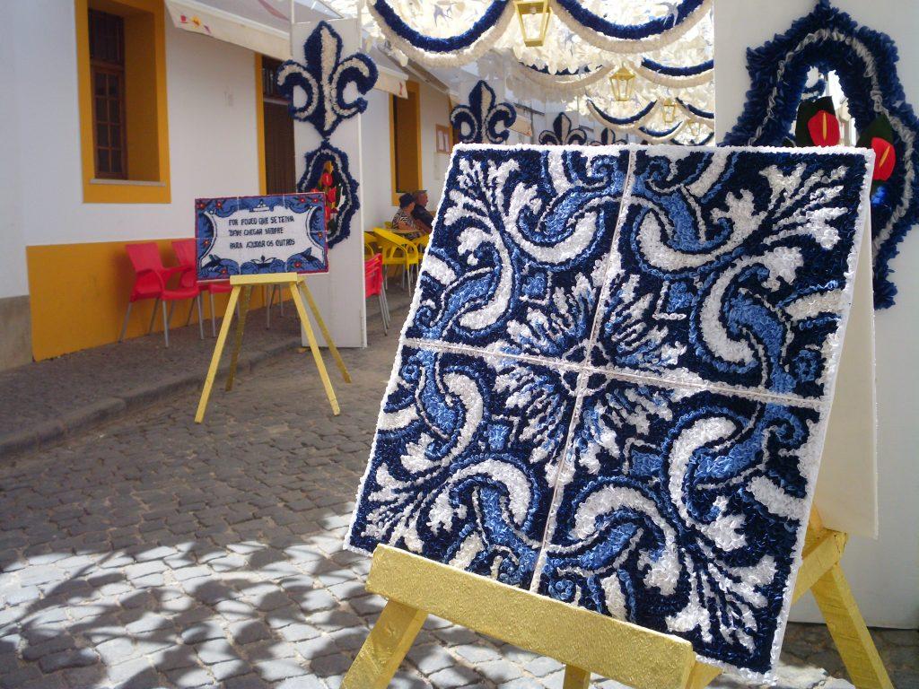 redondo azulejo